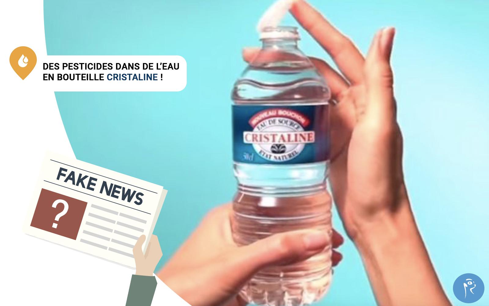 Des pesticides dans de l'eau en bouteille cristaline!