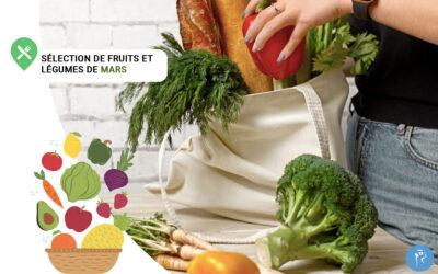 Notre sélection de fruits et légumes du mois de Mars