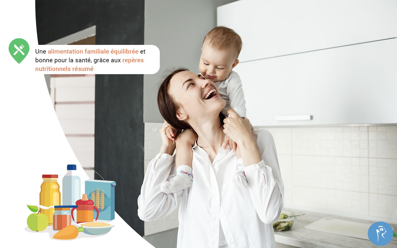 Une alimentation familiale équilibrée et bonne pour la santé grâce aux repères nutritionnels résumé